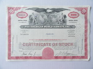 Pan-Ameican-World-Airways-Stock-Certificate-N568118-100-Shares-1968