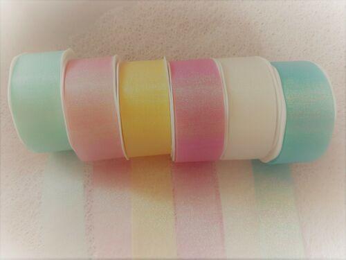 Eleganza CANDY SHIMMER Iridescent ribbon 6 shades /& var lengths ** NEW LINE **