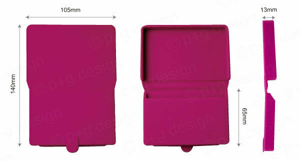 S-Kip p+g design Silicone Business Card Holder Credit Card Wallet Case Navy Blue