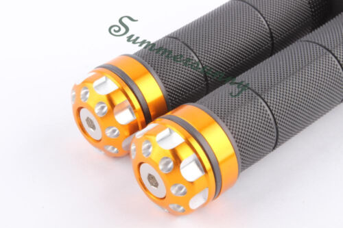 """UNIVERSAL MOTORCYCLE RUBBER GEL HAND GRIPS FOR 7//8/"""" HANDLEBAR SPORTS BIKES S/&SQ"""