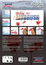 HARDER & STEENBECK AIRBRUSH STENCILS - BLOOD SPLASH