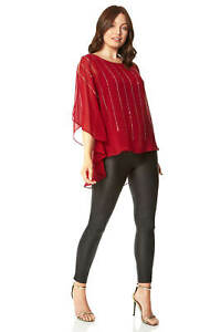 Roman Originals Women Split Sleeve Shimmer Jumper