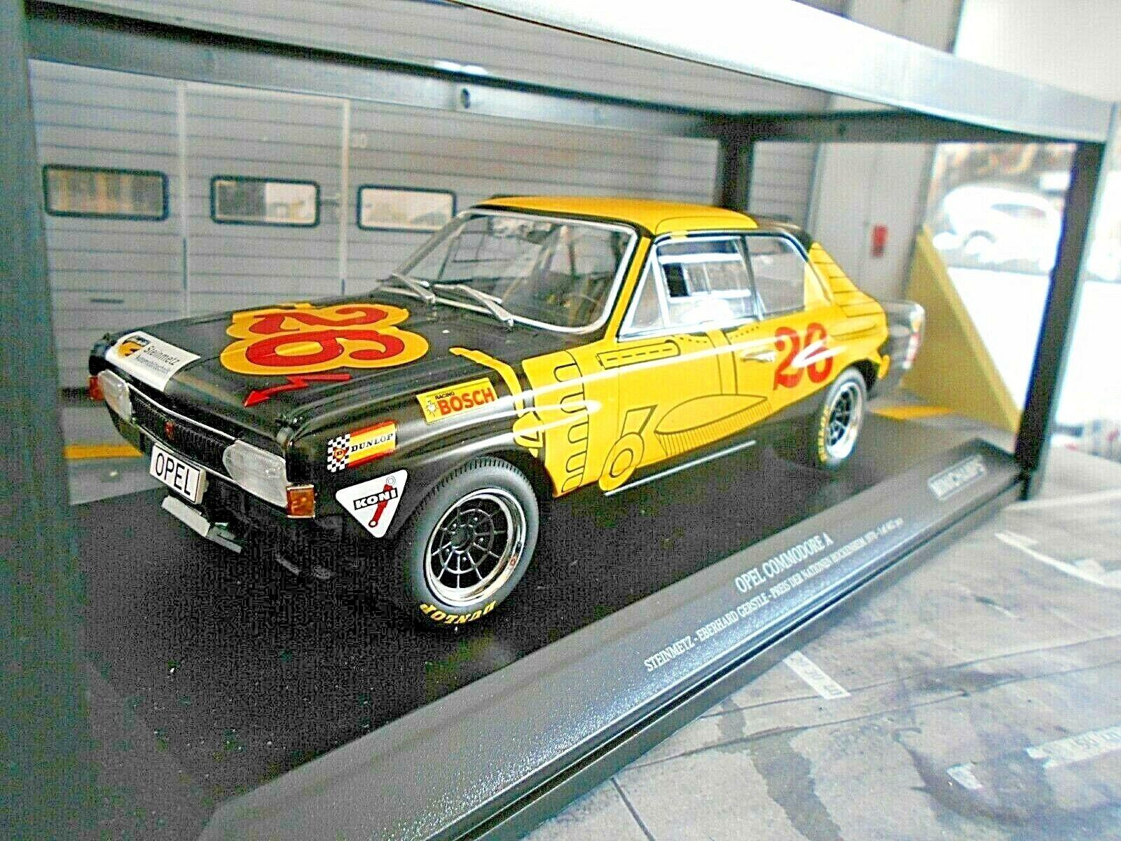 Opel Commodore a cantero racing hockeheim 1970 gerstle Minichamps 1 18