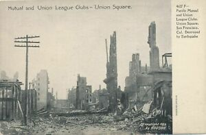 SAN FRANCISCO CA - Pacific Mutual, Union League Clubs After Earthquake, Fire-udb