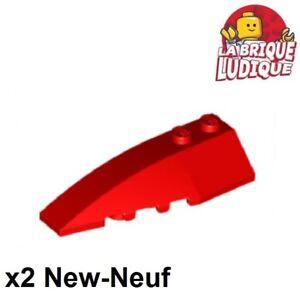 Lego 2x Wedge 6x2 left gauche brique brick pente angle blanc//white 41748 NEUF