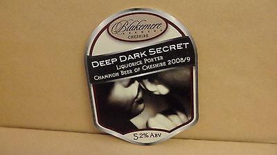 Reklame & Werbung Sonstige Blakemere Tief Dark Secret Ale Bier Pumpe Clip Face Bar Sammlerstück 59 Einfach Zu Reparieren