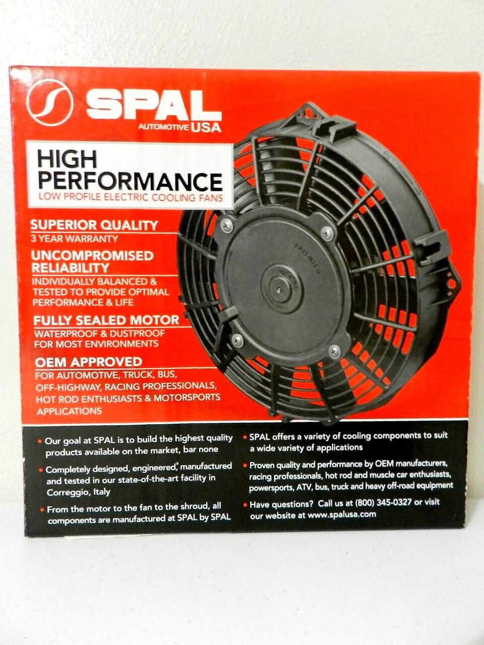 """Spal 30101500 11/"""" Straight Blade Low Profile Fan"""