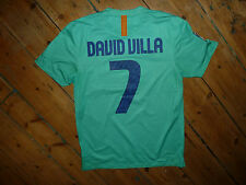 DAVID VILLA #7 Barcelona MEDIUM  Away Football Shirt MAN CITY 2010-2011 SOCCER