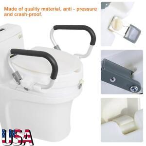 Fine Details About Adjustable Raised Locking Elevated Toilet Seat Riser Elevator W 2 Padded Arms Uwap Interior Chair Design Uwaporg