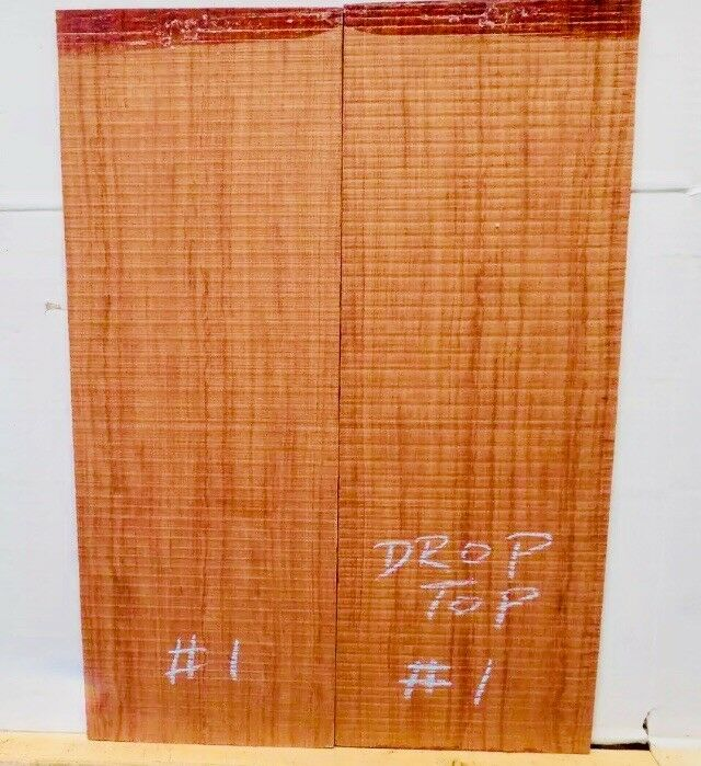 Bubinga E-Gitarre Oberteil - 0.6cm Gitarrenbauer Tonewood Drop Top 01