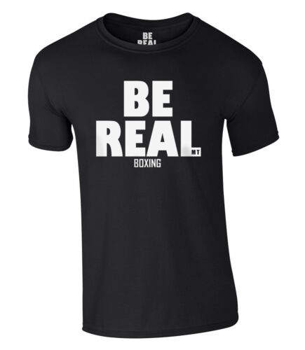 Be Real Boxing T-Shirt Mike Tyson New S-XXL Iron Mike Champion