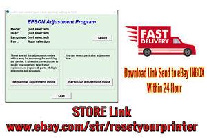 Details about Reset Epson L3110 100% Epson L3110 Adjustment Program