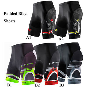 sponeed Men Padded Bike Shorts Road Cycling Pants