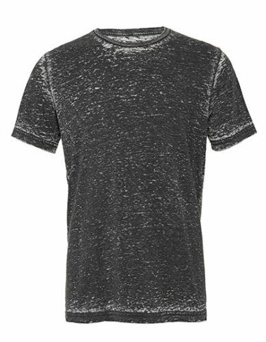 Unisex Melange T-Shirt Körperbetonte Form am Bizeps Herren Damen