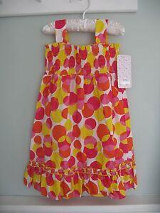 b515add815 Image is loading Lilybird-White-Pink-Yellow-Polka-Dot-Sundress-Dress-