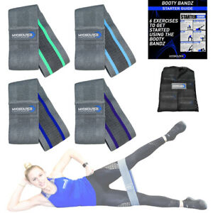 Kinetic-Bands-Fitness-Booty-Hip-Resistance-Bands-Includes-4-Bands-and-Travel-Bag