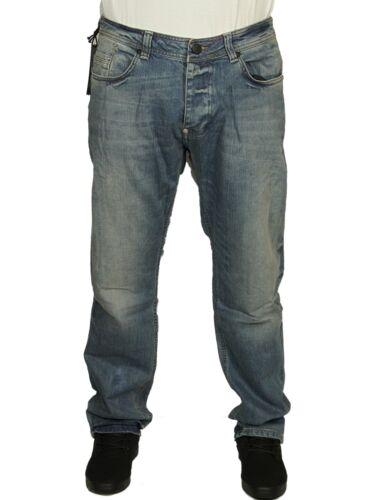 MENS JEANS FORAY BLITZ DIRTY WASH DESIGNER PLAIN PANTS STRAIGHT LEG RRP £49.99