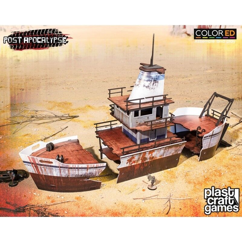 Plast Craft Games colord Stranded Ship Scenery box new