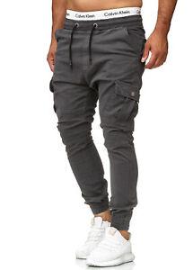 Chinohose-Jeans-Hose-Sweatpants-Slim-Fit-Jogg-Jogger-Cargo-Stretch-Herren