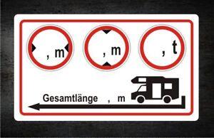 Details Zu Aufkleber Wohnmobil Camper Breite Höhe Gewicht Länge Womo Sicherheit Nr 7784