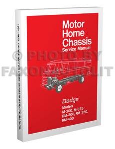 1971 1972 dodge motor home shop manual motorhome m300 m375 rm300 7 RV Blade Wiring Diagram image is loading 1971 1972 dodge motor home shop manual motorhome