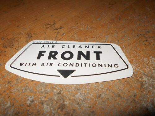 1962 1963 FORD FAIRLANE w AIR CONDITIONING FRONT AIR CLEANER DECAL STICKER NEW
