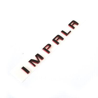 2x OEM Chrome IMPALA Nameplate Alloy Letter Emblems Badges 07-15 Chevrolet WU