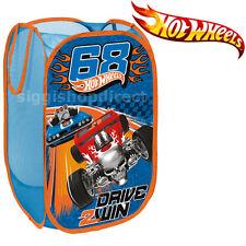 Hot Wheels Boys Kids Bedroom Pop Up Foldable Toys Storage Bin Washing Basket