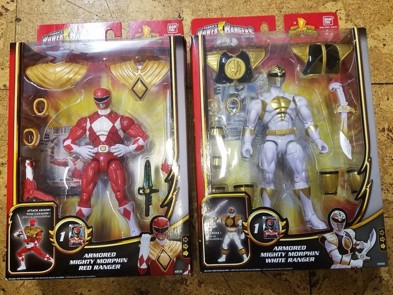 Mighty Morphin Power Rangers Armorosso rosso Ranger bianca Ranger Megaforce 20th