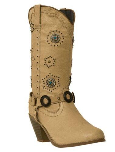 Pigskin Addie Genuine Di566 Dingo Chestnut Cowboy western Women's boots Opwgt