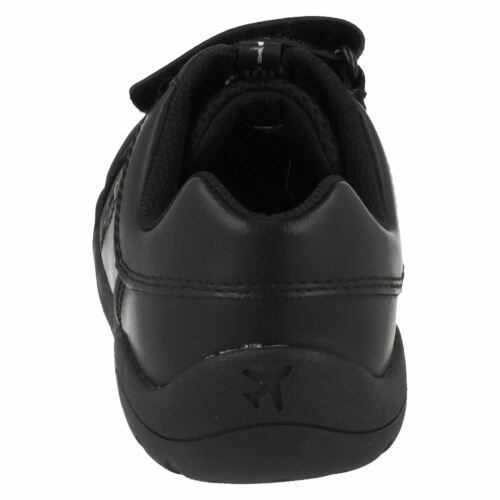Wing Lite Boys Clarks Black School Shoes With Lights