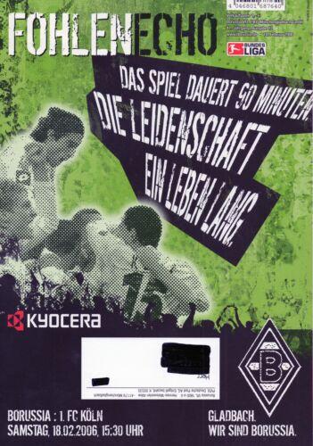 FOHLEN ECHO 18.02.2006  BORUSSIA MÖNCHENGLADBACH - 1.FC KÖLN    2:0