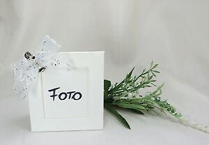 Details Zu Gastgeschenk Bilderrahmen Tischkarte Weiß Kommunion Konfirmation Taufe