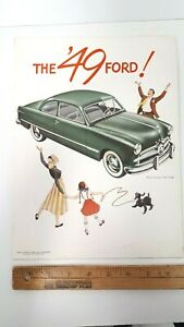 1949-FORD-Original-Color-Dealer-Folder-Very-Good-Condition-US