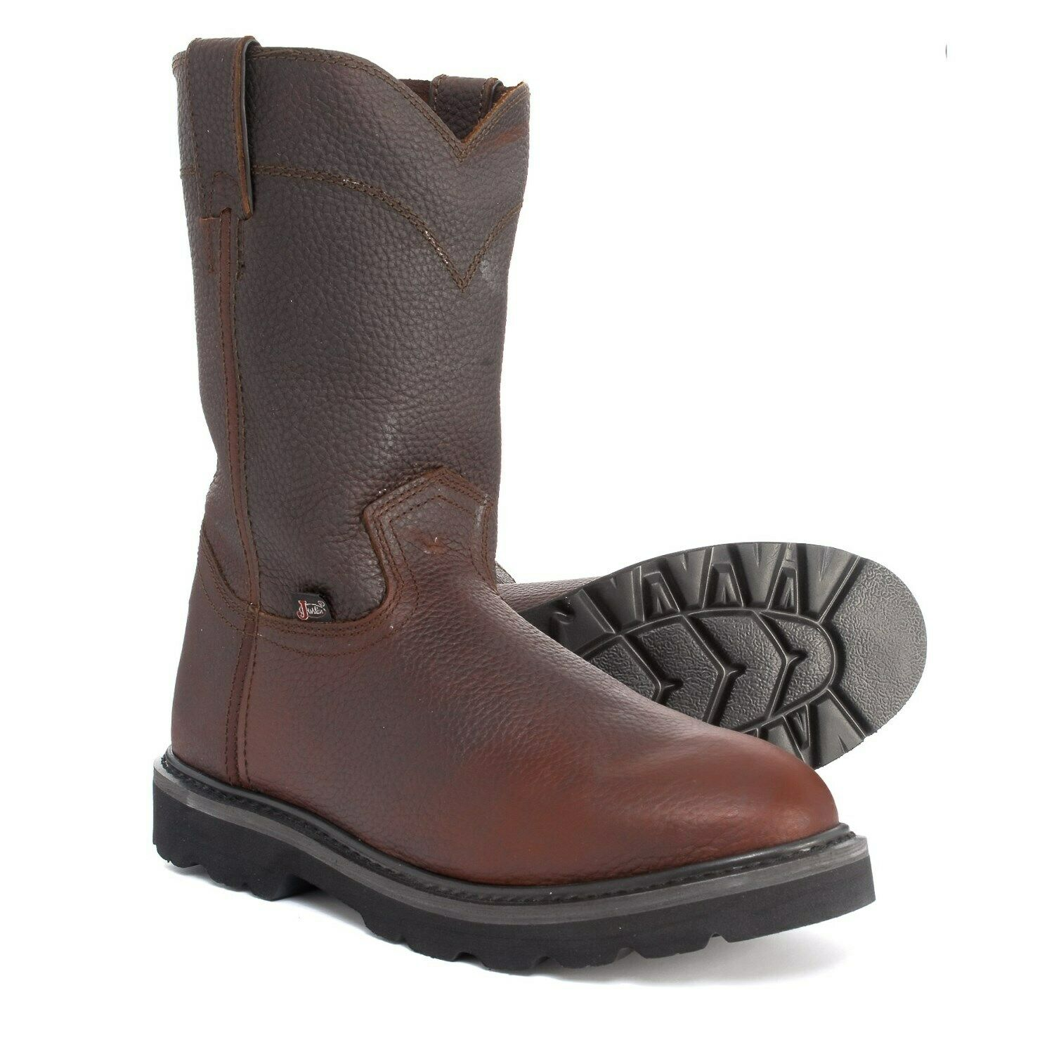 Mens Justin Screwdriver Oiled Leather Work Boots 10  Brown Black WK4905