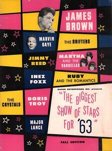 JAMES-BROWN-1963-BIGGEST-SHOW-OF-STARS-FALL-CONCERT-PROGRAM-BOOK-NMT-2-MINT