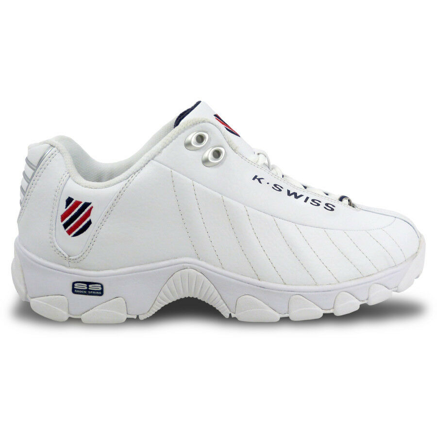 K-Swiss ST329 White Leather 03426-130 Sneakers shoes Men