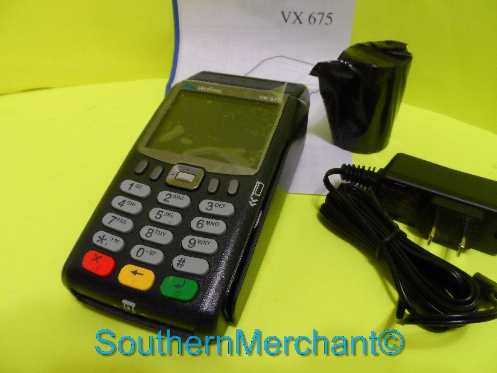 VeriFone Vx675 3G Wireless Equiment Unlocked Credit Card Reader Mobile Terminal