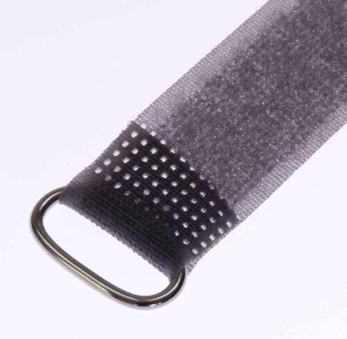10 Satz Kabelbinder Wiederverwendbar Klettband mit Schnalle 5 Farben 8 Zoll