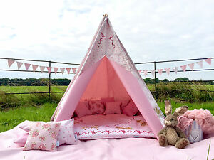 new concept 7a6f0 faf0f Details about HORSE HEART TEEPEE CHILDRENS WIGWAM PLAY TENT 4ft/ 6ft  WATERPROOF indoor/outdoor