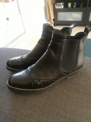 Dune London Paney Black Patent Leather