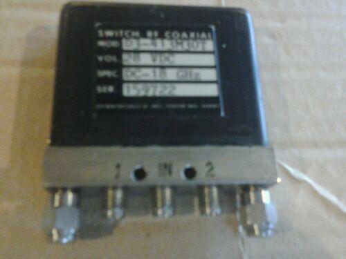 Dynatech d3-413m30t 28vdc rf coaxial switch