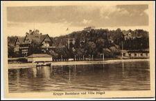 ESSEN um 1910/20 Krupp`s Bootshaus und Villa Hügel Verlag Gebr. Moonen Essen