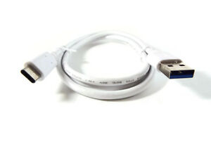 USB-C-to-USB-A-White-Premium-Charging-Data-Cable-3Ft-1M-56k-Ohm-USA-SELLER