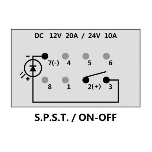 Bay linger Cuddy MasterCraft X2 Marine Boat Blue Rocker Switch On//Off Eject Ho