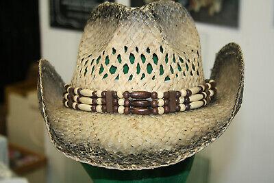 Sporting Strohhut Westernhut Cowboyhut Hüte Indian Beige Westernhüte Running Bear Hut