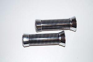 Guidon-poignees-chrome-anneaux-22mm-paire-poignees-poignee-caoutchouc-Chopper-Bobber