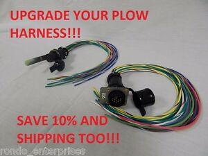 Hiniker Snow Plow repair plug pigtail AMP CPC grill and plow upgrade on wire antenna, wire holder, wire cap, wire lamp, wire sleeve, wire ball, wire nut, wire connector, wire clothing, wire leads,