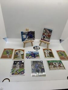 2021 Topps Heritage Javier Baez Happ Rookie Card RC Bryant Chicago Cubs MLB Lot