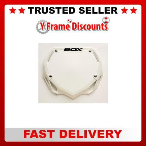 Box Phase 1  Number Plate Small White